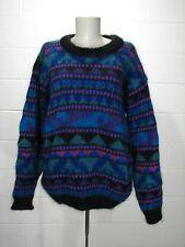 Vintage 90's ICELANDIC DESIGN Sz S Mohair Chenille Wool Sweater