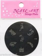 Nail Art Stamping Kit Pack + Image Plate Mould With 7 Designs