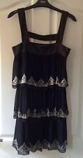 Ladies Black Monsoon Dress - Size 8 - EXCELLENT CONDITION