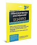Word 2010 Basics and Advanced For Dummies eLearning Course Access Code Card
