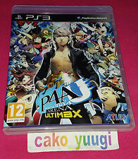 PERSONA 4 ARENA ULTIMAX SONY PS3 BON ETAT VERSION FRANCAISE TEXTE EN ANGLAIS