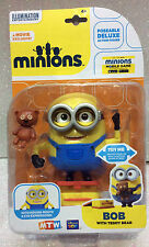 DESPICABLE ME MINIONS MINION BOB E TEDDY CON MOVIMENTO OCCHI E BOCCA MOVIG EYE
