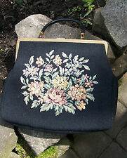 Rare vintage german GOLD PFEIL Tapestry Bag 1940-60s Luxury Brand Goldpfeil