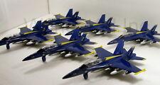 """Set of 6 diecast 9"""" model F/A-18 Hornet US Navy Blue Angels fighter jet #150"""