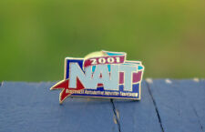 NAIT 2001 Northwest Automotive Industry Tradeshow Gold Tone Lapel Pin Pinback