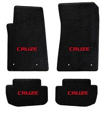 NEW! BLACK FLOOR MATS 2015-2016 Chevy Cruze with Red Embroidered Logo on all 4