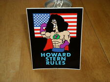 "FART MAN - HOWARD STERN RADIO Car Bumper Window Tool Box Sticker Decal 4""X 5.25"""