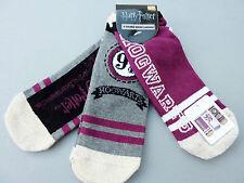 NEU Harry Potter 3 Paar Hogwarts Gold Glitzer Sneaker Socken 37-42 Socks Primark