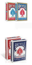 4 mazzi carte Bicycle Standard index + Rider back old case