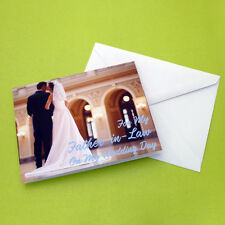 For My Father In Law On My Wedding Day Greeting Card Bride Dad Daddy Sweet Note