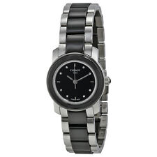 Tissot T-Trend Black Ceramic Diamond Ladies Watch T0642102205600