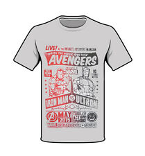 Marvel Avengers Iron Man vs Ultron T-shirt Heather Grey Large New Collector Corp