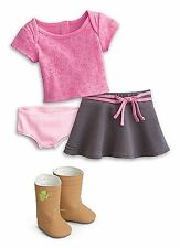 """American Girl MY AG TRUE SPIRIT OUTFIT In Bag for 18"""" Dolls Pink Tee Skirt Boot"""