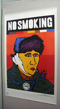 No Smoking poster pin-up sign old lady w/ cigarette Funky Chen humor comedy art