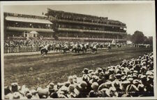 Ascot England Horse Race Course Track Real Photo Postcard