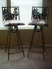 Western Rustec Home Decor Horseshoe Horse Bar Stool Cow Hide Kitchen 1 Stool