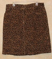 KIKIT Jeans leopard Cord skirt ladies Size 16 Animal print