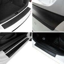 Carbon rear Bumper + Door Sill Protectors for Ford Mondeo MK4 Estate Carbon Film