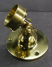 Brass Hand Rail, Stair Railing, Adjustable Angle Flange for 1 1/2 in. tube