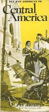 PAN AMERICAN CENTRAL AMERICA BROCHURE ROUTE MAP CABIN IMAGE