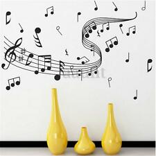 Music Notes Band Room Home Removable Wall Stickers Decals Vinyl Black Decor Art