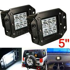 """2x 5"""" 18W Chips LED Work Fog Driving Spot Beam Light For Offroad Truck 4WD SUV"""