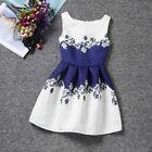 Mädchen Blumen Mode Kleid Kinder Festkleid Hochzeit Party Kommunionskleid Sommer