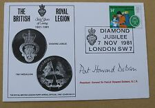 ROYAL BRITISH LEGION DIAMOND JUBILEE 1981 COVER SIGNED GENERAL PAT HOWARD DOBSON