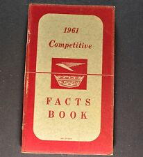 1961 Ford Competitive Facts Book Brochure Galaxie 500 Wagon Falcon Original 61