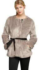 GAP WOMENS TAUPE FAUX FUR BELTED COAT ORG. $168.00 SIZE LARGE BNWT