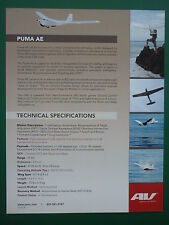 09 DOCUMENT AV AEROVIRONMENT 1 PAGE PUMA AE UAV UNMANNED AIR VEHICLE MINI DRONE