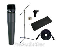 Shure SM57 Instrument Mic +XLR Cable + Stand SM57LC 57 Microphone PROAUDIOSTAR
