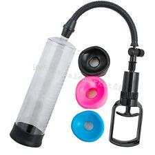 Male Vacuum Penis Pump Male Enhancement Penis Enlarger Tools 3 Sleeves US SHIP