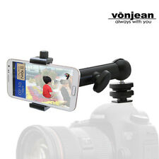 vonjean VCM-5532 hotshoe holder for Apple i phone 6 Galaxy note 4 S6 canon nikon