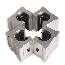 4 x SBR12UU 12mm Aluminum Linear Motion-Router Lager Fester Block, Silber GY