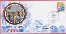 AUSTRALIA STAMPS 2000 OLYMPIC COVER GUIN BATTEN SIGNED PERSONALLY COLLECTION