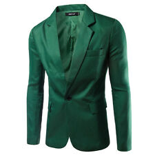New Fashion Men's Slim Fit One Button Suit Blazer Coats Jackets Casual Tops