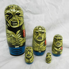Zombie - Hand Painted Russian Doll Set - 5 Dolls - BNWT