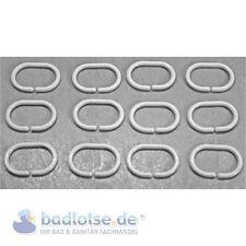 48 Stück Duschvorhangringe,Duschvorhang; Ringe; klar//transparent 1St.=0,19€