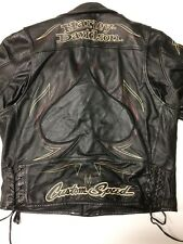 Rare Harley Davidson Crosswinds Custom Speed Leather Jacket Men's XL Spade Black