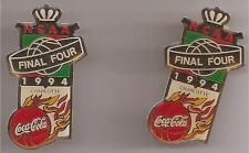 COCA-COLA LOT OF (2)  N C A A FINAL FOUR DATED 1994 LAPEL HAT PINS MINT