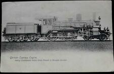 OLD POSTCARD OF GERMAN EXPRESS ENGINE - FRENCH TO RUSSIAN FRONTIER