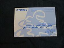 Uso e manutenzione Yamaha FZ 600 Fazer FZ6 SHG/SAHG 4S8 Modello anno 09