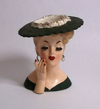 NAPCO LADY HEAD VASE vintage art pottery * free US ship