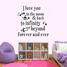 DIY Removable Quote I Iove you forever Wall Sticker Baby Room Decor Vinyl Decal
