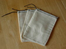 25 (5x7) Cotton Muslin Black Hem and Black Drawstring Bags