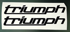 Fairing / Tank Decal Stickers for Triumph (New logo Design) (Any Colour)