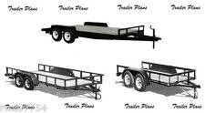 (3 Sets) Tandem Trailer Plans - 8x20 Car Plus 8 x 20 & 8 x 10 Utility Trailers
