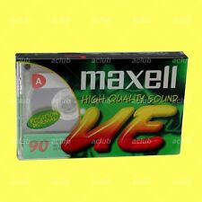 Maxell UE-90 Compact Cassette Tape 90 mins UE90 Blank Audio Sealed Stereo Tape