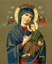 """8"""" x 10"""" Catholic Picture Print Blessed Virgin Mary OUR LADY OF PERPETUAL HELP"""